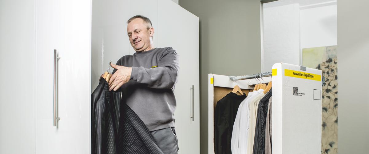 DMS Kleiderkisten für den knitterfreien Umzug