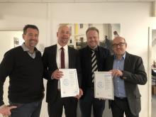 Ralf Stößel, Andreas Voit (Creditreform), Ralf Feller und Herbert Pest